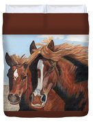 Standing In The Wind Duvet Cover