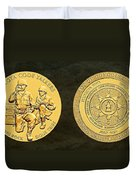 Standing Rock Sioux Tribe Code Talkers Bronze Medal Art Duvet Cover