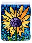 Standing Tall - Sunflower Art By Sharon Cummings Duvet Cover by Sharon Cummings
