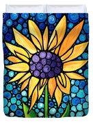 Standing Tall - Sunflower Art By Sharon Cummings Duvet Cover