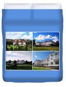 Stanley Hotel In Estes Park Colorado Collage Duvet Cover