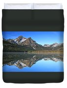 Stanley Lake Sawtooth Mountains Duvet Cover