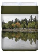 Stanley Park In Vancouver Bc Canada Duvet Cover