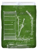 Stanton Bass Drum Patent Drawing From 1904 - Green Duvet Cover