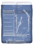 Stanton Bass Drum Patent Drawing From 1904 - Light Blue Duvet Cover