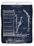 Stanton Bass Drum Patent Drawing From 1904 - Navy Blue Duvet Cover