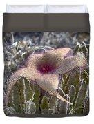 Stapelia Hirsuta Flower-oahu Hawaii Duvet Cover