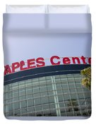 Staples Center Sign In Los Angeles California Duvet Cover