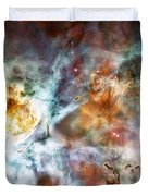 Star Birth In The Carina Nebula  Duvet Cover by Jennifer Rondinelli Reilly - Fine Art Photography