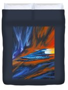 Star Cruiser Duvet Cover by James Christopher Hill
