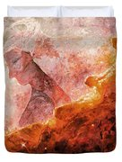 Star Dust Angel - Desert Duvet Cover