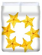 Star Fruit Slice Duvet Cover