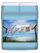 Star Island Clothesline Duvet Cover