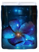 Star Light Plumeria Duvet Cover