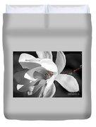 Star Magnolia Flower Duvet Cover