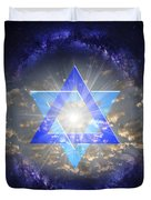 Star Of David And The Milky Way Duvet Cover