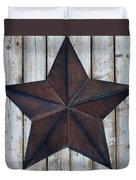 Star On Barn Wall Duvet Cover