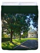 Star Over The Mausoleum - Henry And Arabella Huntington Overlooks The Gardens. Duvet Cover