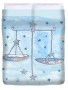 Star Sign Libra Duvet Cover