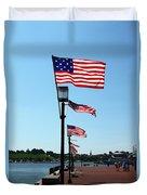 Star Spangled Banner Flags In Baltimore Duvet Cover