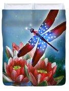 Star Spangled Dragonfly Duvet Cover