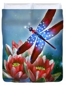 Star Spangled Dragonfly Duvet Cover