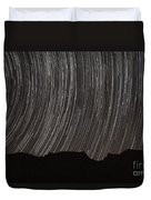 Star Trails Above A Valley Duvet Cover by Amin Jamshidi