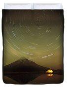 Star Trails Around South Celestial Pole Duvet Cover