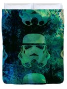 Star Warriors Watercolor 1 Duvet Cover by Naxart Studio