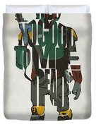 Star Wars Inspired Boba Fett Typography Artwork Duvet Cover
