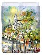 Starbucks Cafe In Budapest Duvet Cover