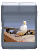 Stare Of A Seagull Duvet Cover