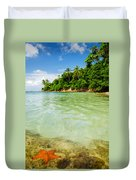 Starfish And Clear Water Duvet Cover