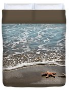 Starfish Catching The Waves Duvet Cover