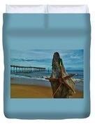 Starfish Driftwood And Pier 3 12/20 Duvet Cover