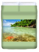 Starfish In Clear Water Duvet Cover