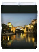 Stari Most By Night  Duvet Cover