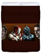 Stark Industries Vs Wayne Enterprises Duvet Cover