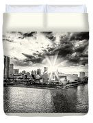 Starlight Over The American Airlines Arena Duvet Cover