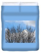 Starlings In The Cottonwoods Duvet Cover