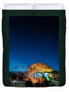 Starry Camp Fire Duvet Cover