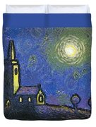 Starry Church Duvet Cover by Pixel Chimp