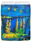 Starry Night Bridge Duvet Cover