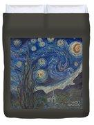 Starry Night Copy 8 Duvet Cover