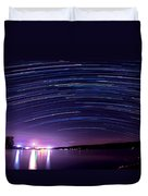 Starry Night On Cayuga Lake Duvet Cover