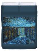 Starry Night Over The Rhone Duvet Cover