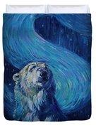 Starry Night Van Gogh Bear Duvet Cover