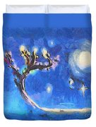 Starry Tree Duvet Cover by Pixel  Chimp