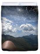 Stars And Planets In A Valley Duvet Cover