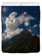 Stars And Planets On Mont Blanc Duvet Cover